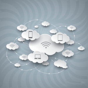 Photo of clouds and devices