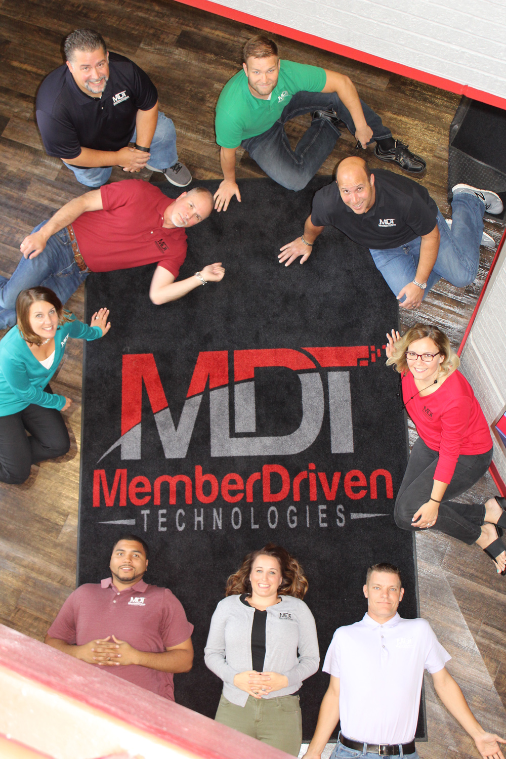 Photo of MDT employees in lobby