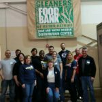 Group photo of the MDT volunteers at Gleaners Food Bank