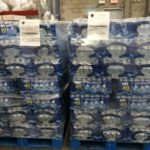 Pallets of bottled water MDT employees donated to the City of Flint