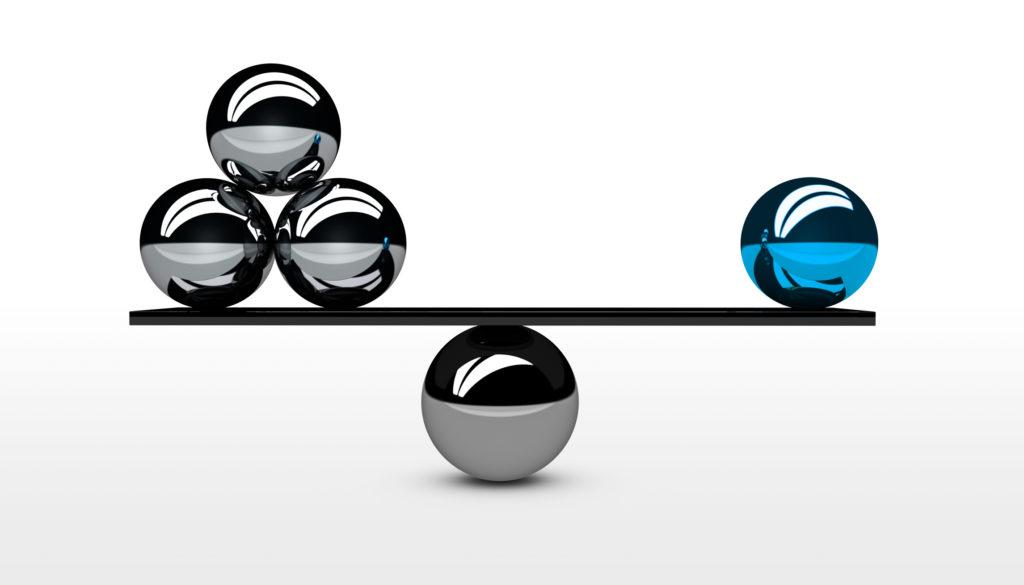 Balance conceptual graphic