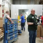 Employees sorting food donations - Gleaners 2019